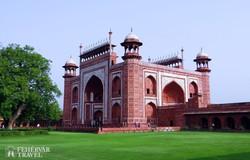 a Taj Mahal egyik kapuja