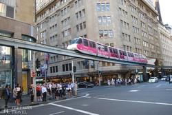 a monorail Sydney belvárosában