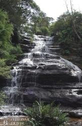 vízesés a Kék-hegységben