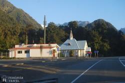 kápolna Franz Josef Glacier falucskában