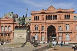 a Casa Rosada (az Elnöki Palota) Buenos Aires főterén