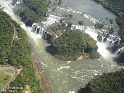 az Iguassu-vízesések a magasból