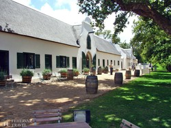 a Groot Constantia szőlőbirtok egyik épülete