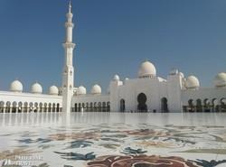 a páratlan Nagymecset Abu Dhabiban