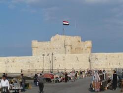 a Qaitbai-erőd Alexandriában