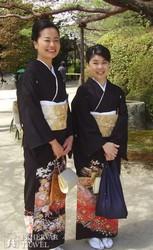 japán hölgyek kimonóban
