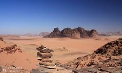 kietlen sivatagi táj Wadi Rumban