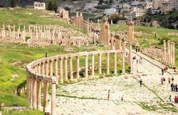 ókori emlékek Jerashban, a világ egyik legrégibb városában