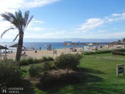 a tengerparti üdülőhely Aqaba egyik strandja