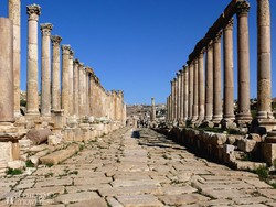Jerash egykori főutcája, a Cardo Maximus
