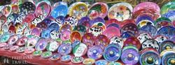 színes portéka a Chichén Itzába vezető úton