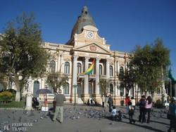 La Paz főtere, a Plaza Murillo