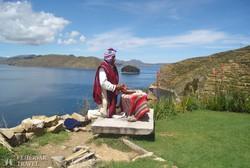 sámáni áldás a Titicaca-tónál