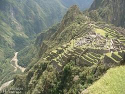 az Urubamba folyó felett magasodó Machu Picchu