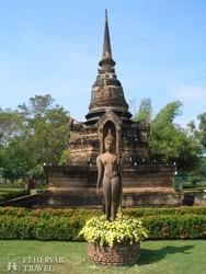 Buddha-szobor Sukhothai-ban