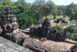 Angkor Thom – kilátás a Baphuon templom felső teraszáról