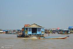 úszó falu a Tonle Sap tavon