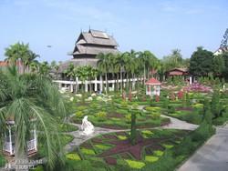 részlet a Nong Nooch trópusi kertből