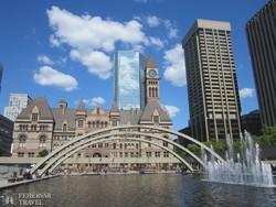 Toronto belvárosa a régi városházával
