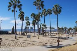 óceánparti sétány Los Angelesben