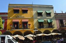 Puebla színes házai