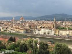 Firenze látképe