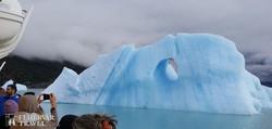 az Argentino-tó Uppsala-ágának egyik hatalmas jégtömbje