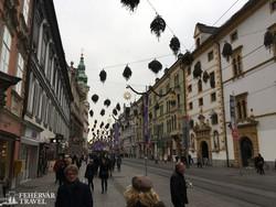 adventi hangulat Graz belvárosában