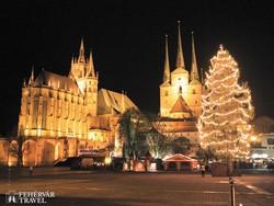 Erfurt: a dóm és a Szt. Severin-templom adventi hangulatban