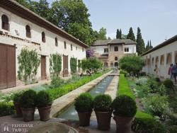 Granada: az Alhambra palota belső kertje – a Generalife