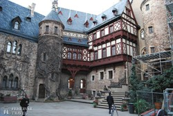 Wernigerode: a várkastély belső udvara
