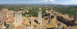 San Gimignano: panoráma a legmagasabb torony tetejéről