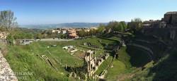 az ókori színház romjai Volterrában