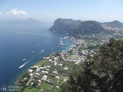 Capri – panoráma Anacapri faluból