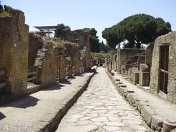 utcarészlet Herculaneumban
