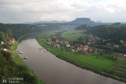 az Elba völgye a Bastei felől