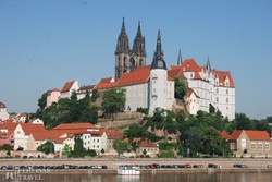Meissen felsővárosa az Elba felett