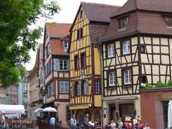 Strasbourg, a Petite France negyed egy részlete