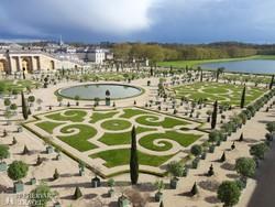 a Versailles-i kastély parkja – részlet