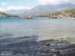 kirándulóhajók a phaselisi öbölben