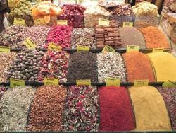 jellegzetes portékák az isztambuli bazárban