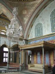 Isztambul – a Topkapi szeráj egy belső részlete