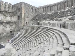 az ókori színház maradványai Aspendosban