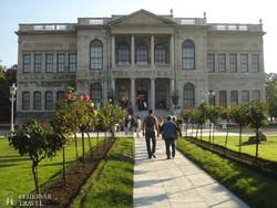 a Dolmabahce palota Isztambulban