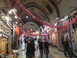 a Fedett Bazár egy részlete Isztambulban