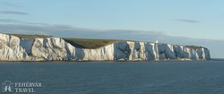 Dover fehér sziklái a kompról