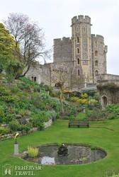 Windsor kastélya a kert felől – részlet