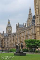 a Parlament épülete, háttérben a Big Ben