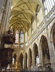 a Szent Vitus-katedrális gótikus belsője