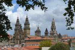 a Szt. Jakab-katedrális tornyai Santiago de Compostelában